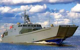 Проект 21820 Дюгонь — десантные катера российского флота, ТТХ, экипаж и грузоподъемность, история создания и перспективы проекта