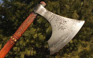 Боевой топор: оружие викингов (с лезвием в виде полумесяца), виды — славянский, скандинавский, русич, классификация