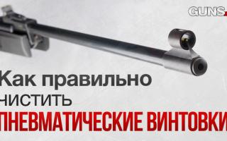 Чистка пневматических винтовок: особенности, процесс, аксессуары, фото и видео