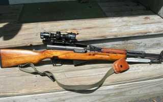 СКС карабин гладкоствольный самозарядный Симонова, технические характеристики полуавтоматической винтовки, патрон калибра 7,62 и система ствола