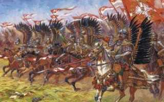 Крылатые гусары — кавалеристы Польши и Речи Посполитой, доспехи, кольчуга, шлем, вооружение и амуниция, атака тяжелой конницы