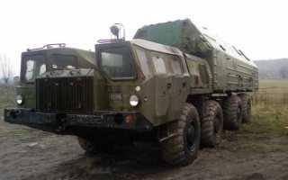 МАЗ 543 Ураган, технические характеристики тягача: двигатель, кабина, шасси, грузоподъемность, топливные баки, трансмиссия и размеры