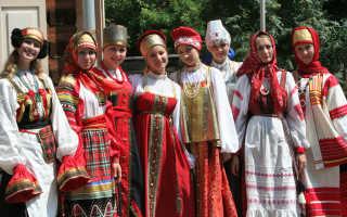 Русский народный костюм — традиционная одежда восточных славян, детская, женская и мужская, стиль символики на праздничных нарядах
