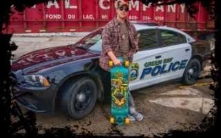 Полиция на скейтборде