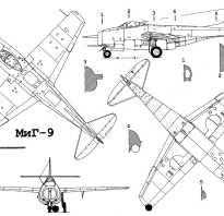МиГ 9, обзор и ТТХ истребителя, российский реактивный самолет, особенности конструкции, максимальная скорость и дальность полета