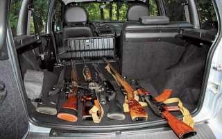 Как перевозить пневматическое оружие в машине