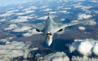 Реактивный бомбардировщик Ту-160 «Белый лебедь»